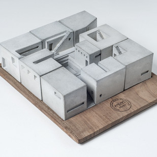 Miniature concrete home (Complete Set of Nine) by Material Immaterial, Contemporary Curio