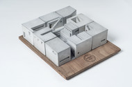 Miniature concrete home (Complete Set of Nine) Curio By Material Immaterial