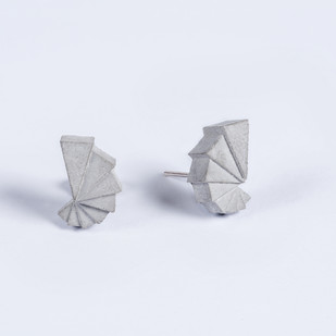 Micro Concrete Earrings by Material Immaterial, Contemporary Earring