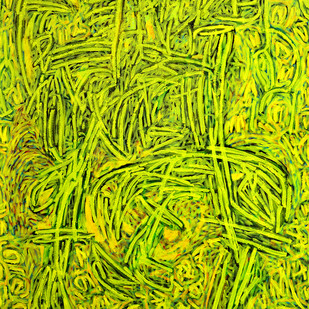 Immersed by Bhuwal Prasad, Expressionism Painting, Acrylic on Canvas, Green color