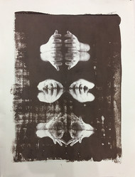 untitled by Krishanu Chatterjee, Image Photography, Hand Cut Paper, Brown color