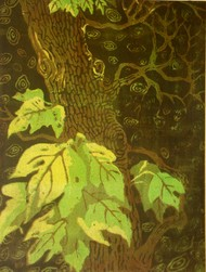 Nature by Subhamita Sarker, Impressionism Printmaking, Water Based Medium on Paper, Green color
