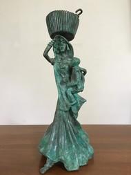 Untitled by Pushpa Devi, Art Deco Sculpture | 3D, Bronze, Beige color