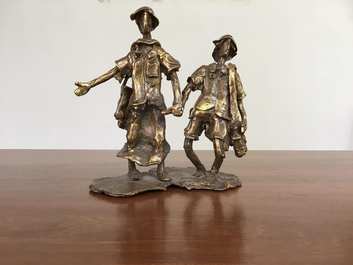 Untitled by K. Velmurugan, Art Deco Sculpture | 3D, Bronze, Brown color