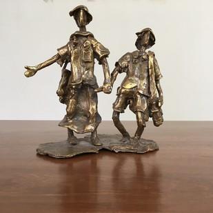 Untitled by K. Velmurugan, Art Deco Sculpture   3D, Bronze, Brown color