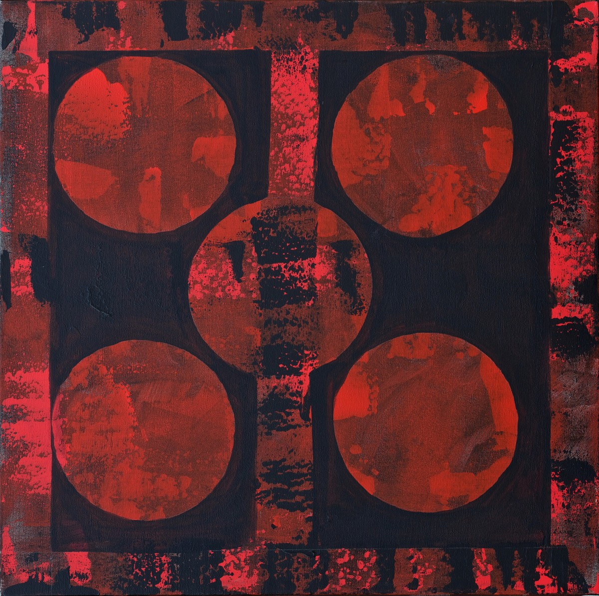 Universe by Bani Pershad, Abstract Painting, Acrylic on Canvas, Brown color