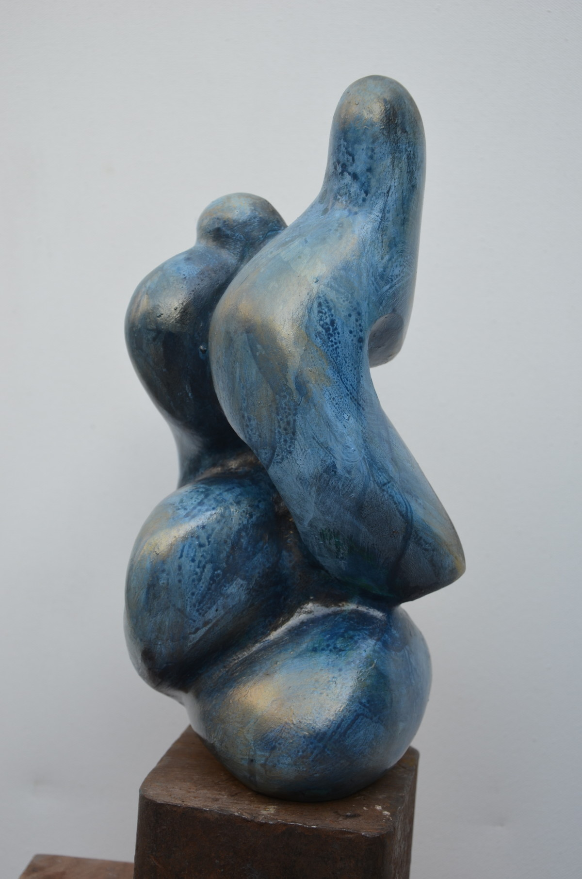 Caress I by Gurmeet Goldie, Art Deco Sculpture | 3D, Metal, Gray color