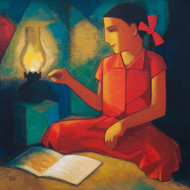 Aspiration by Dipak Asole, Expressionism Painting, Acrylic on Canvas, Brown color