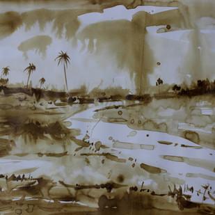 Landscape Digital Print by Amit Dewhare,Impressionism