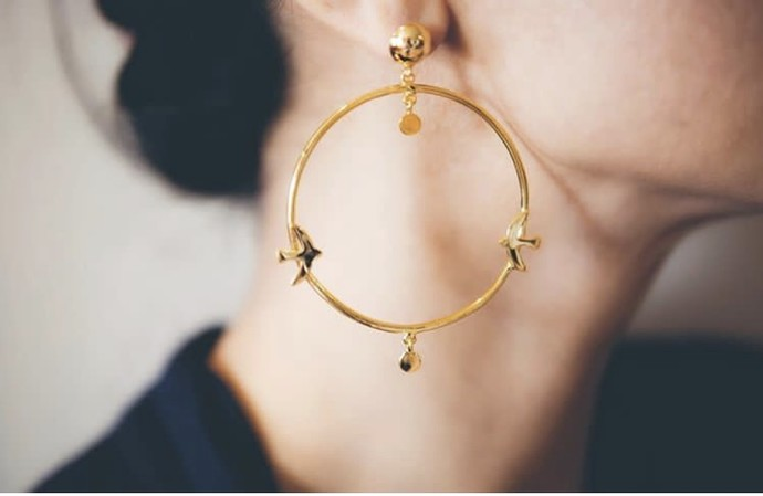 BIRDS OF A FEATHER HOOPS by MYO , Contemporary Earring