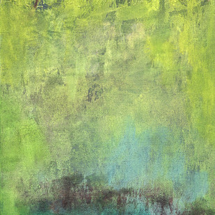 Untitled by Goutam Mukherjee, Abstract Painting, Acrylic on Canvas, Green color
