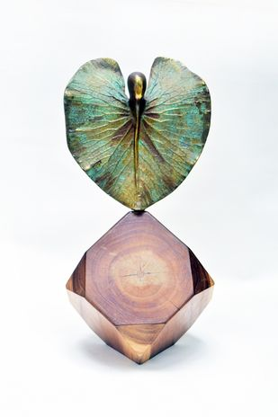 Blossoming Love by Shivarama Chary. Y, Art Deco Sculpture | 3D, Bronze, White color