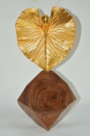 Unique Form by Shivarama Chary. Y, Art Deco Sculpture | 3D, Bronze, Gray color