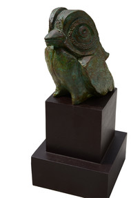 Little Bird by Atish Mukherjee, Art Deco Sculpture | 3D, Bronze, Gray color
