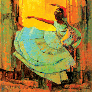 Inner Dance (Hostel Life) by gurdish pannu, Expressionism Painting, Acrylic on Canvas, Brown color