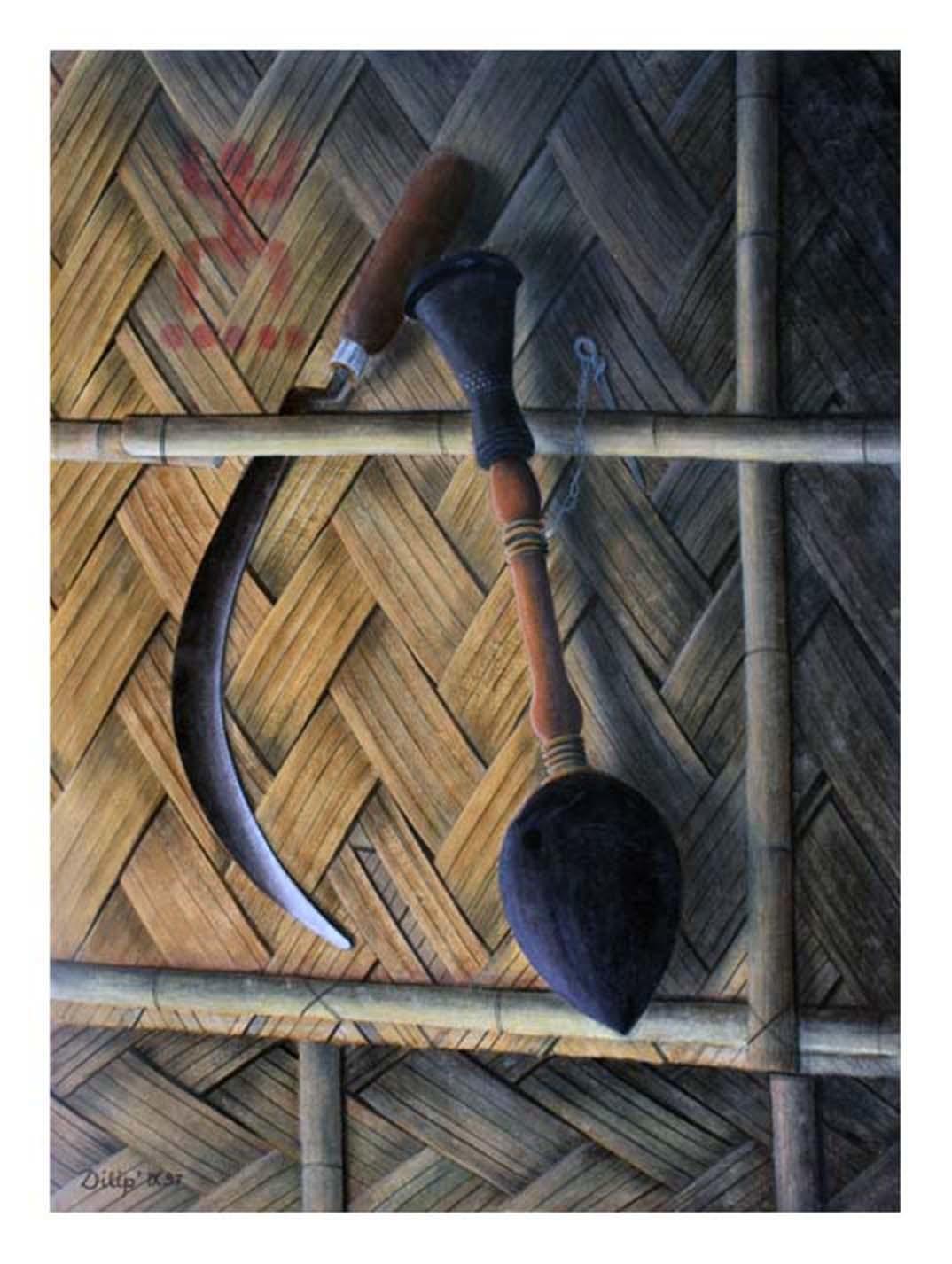 Waiting Digital Print by D K Biswas,Realism