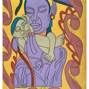 Safe in your Arms Digital Print by Amrit Khurana,Expressionism