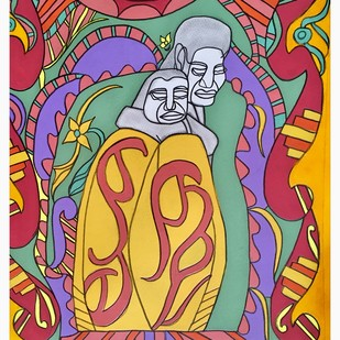 From the Mother's Womb Digital Print by Amrit Khurana,Expressionism