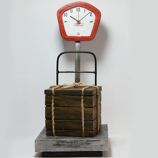 Weighing Machine Table Clock & Storage Clock By THE ART SPA