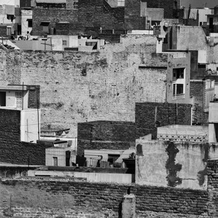Rajasthan by Uday Tadphale, Image Photography, Digital Print on Canvas, Gray color