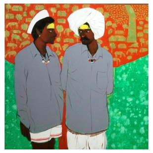 Shepherd..12 Digital Print by Ganesh Jadhav ,Expressionism