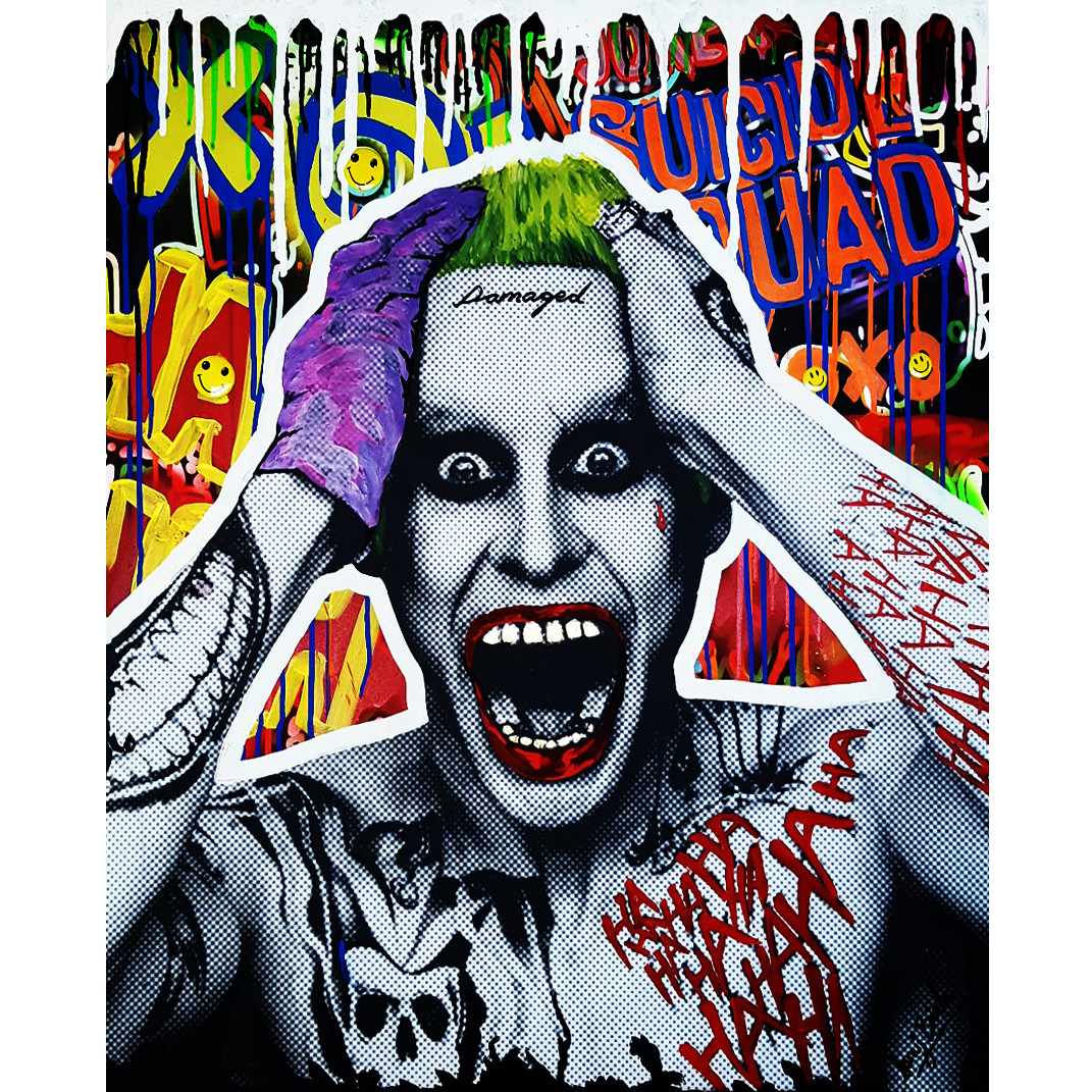 Xoxo Joker Graffiti Art By Artist Sanuj Birla Pop Art