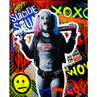 SUICIDE GF GRAFFITI STYLE by Sanuj Birla, Pop Art Painting, Mixed Media, Brown color