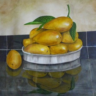 Mangoes Digital Print by Janaki Injety,Realism