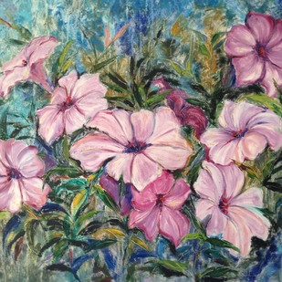 Fragile beauty by Soma Vajpayee, Impressionism Painting, Oil on Canvas, Green color