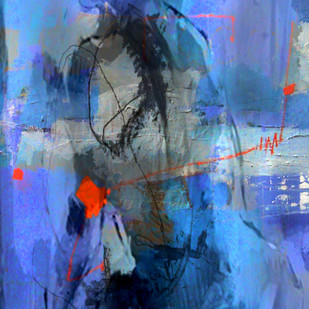 life by Gopal Mehan, Abstract Painting, Acrylic on Canvas, Blue color