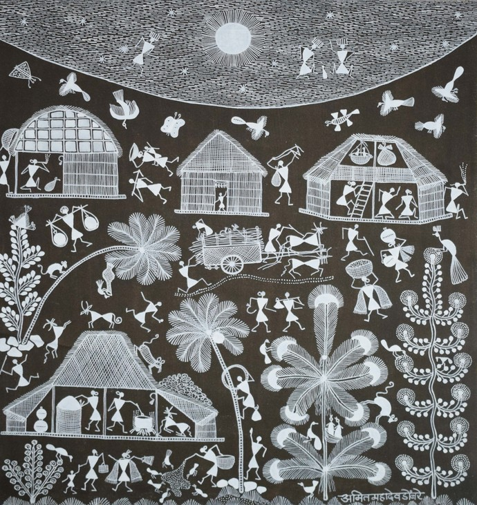 Warli Art By Unknown Artist