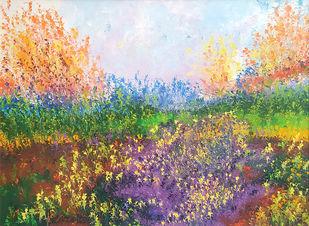 heaven on earth I Digital Print by kaukab Ahmad,Impressionism