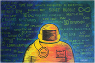 Space Odyssey: Journey to the 10th dimension by Jince Thevarmadam, Expressionism Painting, Acrylic on Canvas, Green color