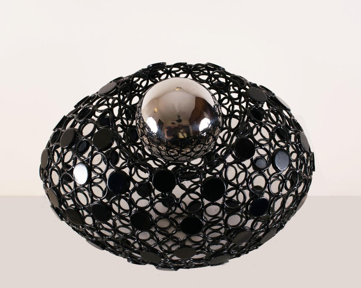 Biosphere 10 by Romicon Revola , Art Deco Sculpture   3D, Metal, Gray color