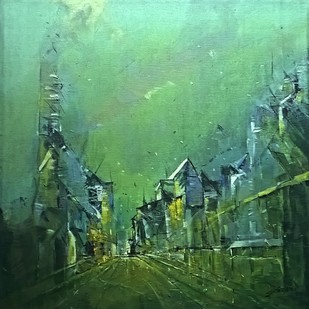 green city Digital Print by Dnyaneshwar Dhavale ,Abstract