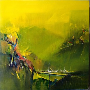Khandala Digital Print by Dnyaneshwar Dhavale ,Abstract