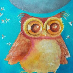 Owl Love 1 Digital Print by Prenita Dutt,Impressionism