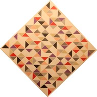 Fragments by A. Sreedharan, Geometrical Painting, Acrylic on Canvas, White color