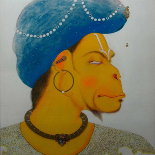 KING OF ALL KINGS by partha mondal, Expressionism Painting, Tempera on Paper, Brown color