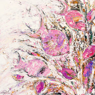 Flow of Dreams -4 by gurdish pannu, Abstract Painting, Acrylic on Canvas, Pink color