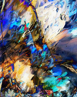 SEA OF TRANQUALITY -2 by Gopal Mehan, Abstract Painting, Oil on Canvas, Brown color