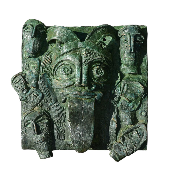 goddess kali by Atish Mukherjee, Art Deco Sculpture   3D, Bronze, Green color