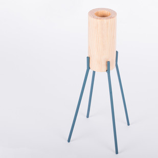 Fyre Large1 [Deep Blue] Candle Stand By Rayden Design Studio