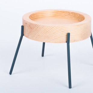 Fyre - Medium [Deep Blue] Candle Stand By Rayden Design Studio