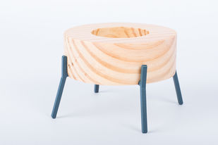 Fyre - Small [Deep Blue] Candle Stand By Rayden Design Studio