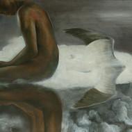 Shadow  40x114cms mixed media on canvas