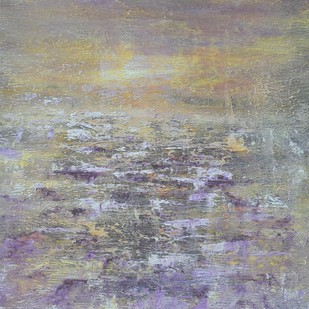 The Whispering Waters by Mahesh Sharma, Impressionism Painting, Acrylic on Canvas, Gray color