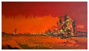 Dawn Digital Print by Dnyaneshwar Dhavale ,Abstract