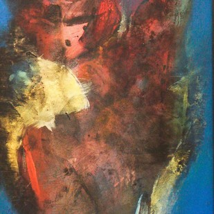 Abstract 1 by Uttam Chapte, Abstract Painting, Acrylic on Canvas, Brown color