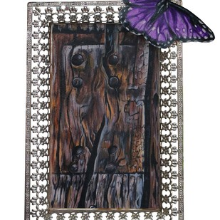 Kempen Wood Grain by Christina Banerjee, Art Deco Sculpture | 3D, Mixed Media on Wood, Gray color